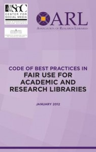 Code of Best Practice in Fair Use - front cover