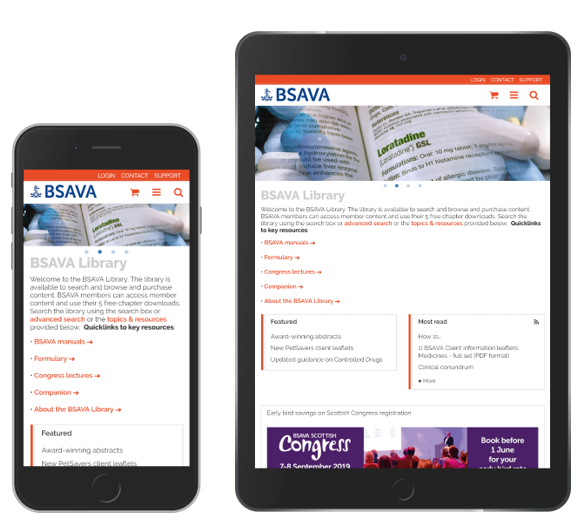 As the platform is responsive BSAVA can maintain their brand identity across different devices.