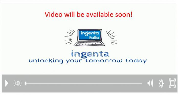 ingenta folio video coming soon